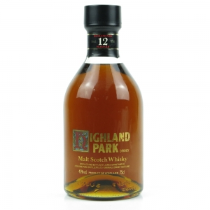 Highland Park 12 Year Old Screen Print Label 1980s