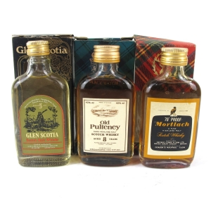 Miscellaneous Single Malt Miniatures x 3