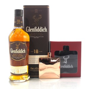 Glenfiddich 18 Year Old / with Hip Flask