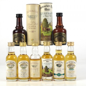 Miscellaneous Bowmore Miniature Selection 8 x 5cl