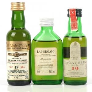 Miscellaneous Islay Miniature Selection 3 x 5cl Including Port Ellen