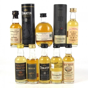 Miscellaneous Speyside and Highland Miniatures 8 x 5cl
