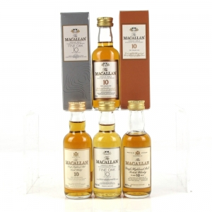 Macallan 10 Year Old Miniature Selection 4 x 5cl