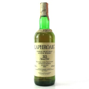 Laphroaig 10 Year Old 1980s / Spirit Import