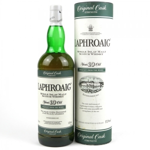 Laphroaig 10 Year Old Cask Strength 1 Litre / Straight From The Wood