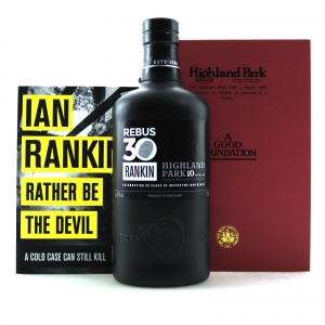 Highland Park 10 Year Old Rebus 30 / Including 'A Good Foundation' and 'Rather be the Devil' Books