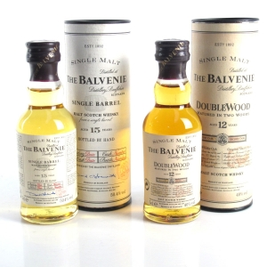 Balvenie Miniature Selection 2 x 5cl / Including Single Barrel 15 Year Old