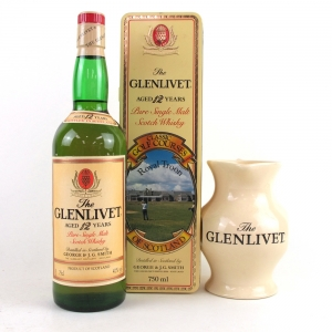 Glenlivet 12 Year Old 75cl / Royal Troon Golf Course Tin Includes Jug
