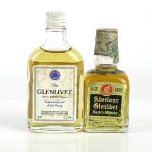 Aberlour and Glenlivet Miniatures x 2