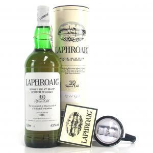 Laphroaig 10 Year Old 1 Litre 1980s / with 1/6 Gill Optic
