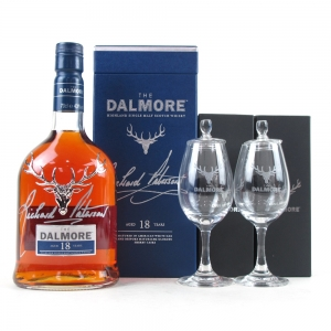 Dalmore 18 Year Old / Signed By Richard Paterson and 2 Copita Glasses