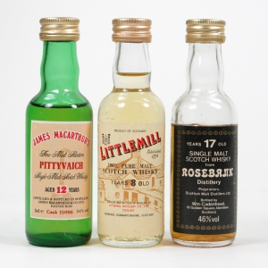 Miscellaneous Closed Distillery Selection 3 x 5cl / Including Rosebank