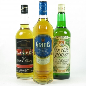 Miscellanous Blended Whiskies 3 x 70cl Front