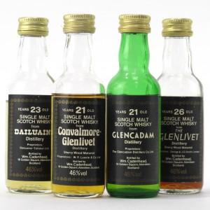 Cadenhead's Miniature Selection x 4 / including Glenlivet 26 Year Old