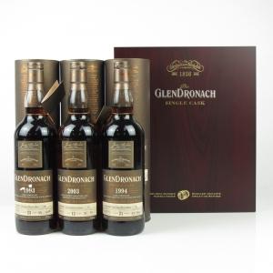 Glendronach Single Cask Presentaion Case 3 x 70cl / 1993 / 1994 and 2003