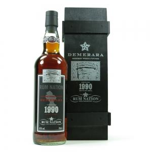 Demerara 1990 Rum Nation Sherry Wood Finish Front