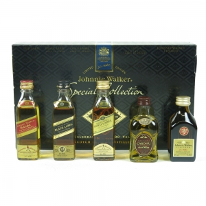 Johnnie Walker Special Collection 500 Years (Including Johnnie Walker Liqueur) 5 x 5cl front