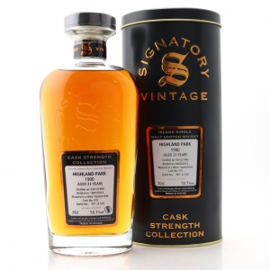 Highland Park 1990 Signatory Vintage 23 Year Old Cask Strength