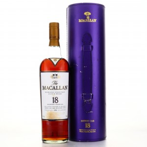 Macallan 1989 18 Year Old / Tube Case