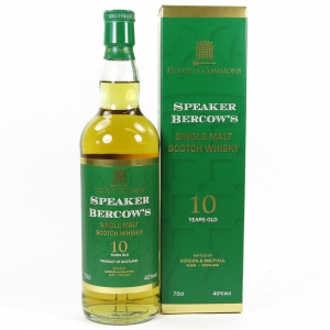 House of Commons Speaker Bercow's 10 Year Old Single Malt