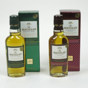 Macallan Miniatures 2 x 5cl / Whisky Makers Selection and Select Oak