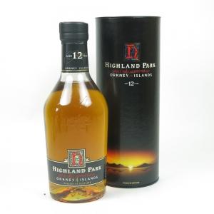 Highland Park 12 Year Old Red 'H' Over Black Label1990s