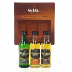 Glenfiddich The Family Collection Miniatures 3 x 5cl