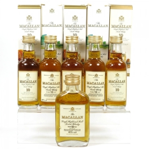 Macallan 10 Year Old Miniature collection 6 x 5cl