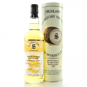 Blair Athol 1987 Signatory Vintage 15 Year Old