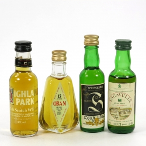 Miscellaneous Assorted Single Malt Minatures Including Lagavulin White Horse 12 Year Old 4 x 5cl