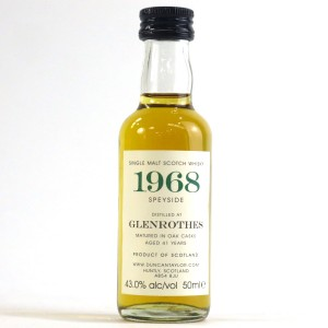 Glenrothes 1968 Duncan Taylor 41 Year Old Miniature
