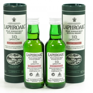 Laphroaig 10 Year Old Cask Strength Miniatures 2 x 5cl