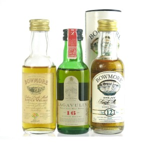 Islay Single Malt Miniature Selection 3 x 5cl / Including Lagavulin 16 Year Old White Horse