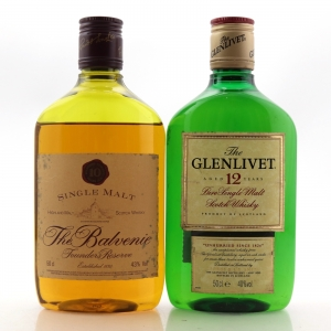 Glenlivet 12 Year Old & Balvenie 10 Year Old Founder's Reserve 2 x 50cl
