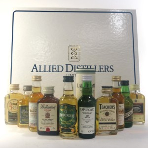 Allied Distillers Queen's Award Miniature Gift Pack 10 x 5cl / includes Pre-Royal Warrant Laphroaig