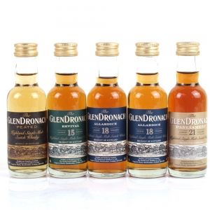 GlenDronach Miniature Selection 5 x 5cl / Including 21 Year Old