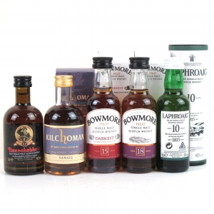 Islay Single Malt Miniature Selection 5 x 5cl / Including Bowmore 18 Year Old