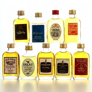 Scotch Whisky Miniatures x 9 1970s-80s / inlcudes Mortlach 12 Year Old