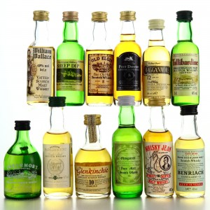 Scotch Whisky Miniatures x 12 / includes Benriach 10 Year Old