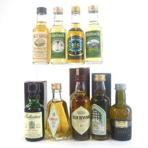 Miscellaneous Scotch Whisky Selection / 9 x Miniatures