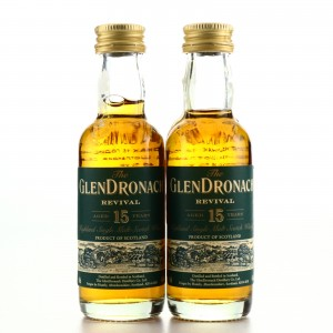 Glendronach 15 Year Old Revival Miniature x 2 / Pre-2015