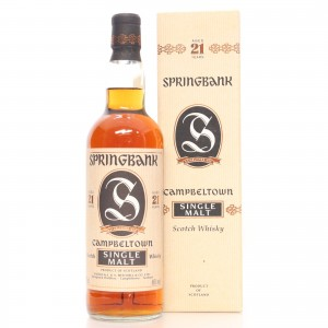 Springbank 21 Year Old / Auxil Import
