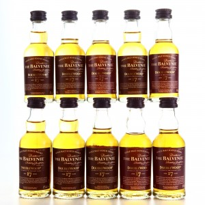 Balvenie Double Wood 17 Year Old Miniatures x 10