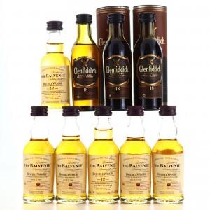 Balvenie & Glenfiddich Miniatures x 9