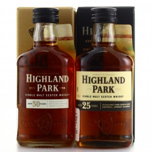 Highland Park 25 & 30 Year Old Miniatures x 2