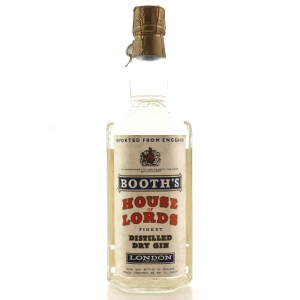 Booth's House of Lords Finest Dry Gin 1960s