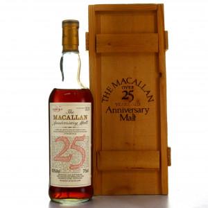 Macallan 25 Year Old Anniversary Malt 1980s