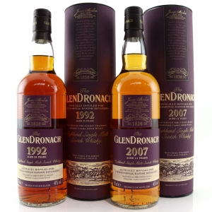 Glendronach 2007 & 1992 Sherry Cask 2 x 75cl / Danish Retail Exclusive