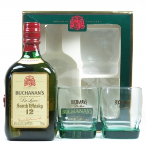 Buchanan's 12 Year Old 75cl and Glasses Gift Set