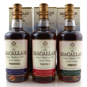 Macallan Decades 3 x 50cl / Twenties, Thirties, Forties